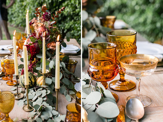 fall table decor @weddingchicks