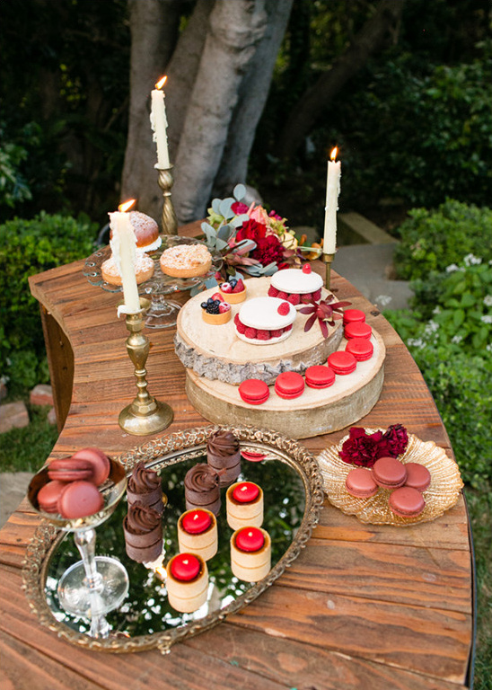 fall inspired dessert table @weddingchicks
