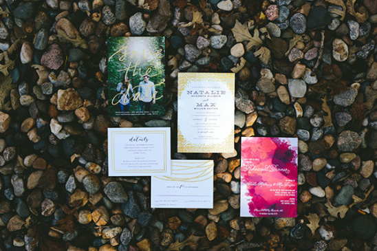colorful wedding stationery @weddingchicks