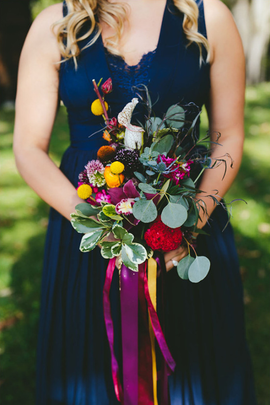 organic bridesmaid bouquet @weddingchicks