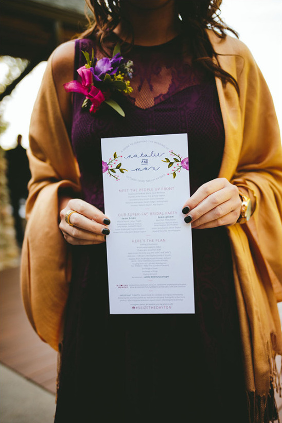 pretty wedding programs @weddingchicks