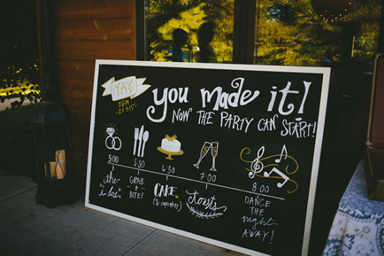 you made it wedding sign @weddingchicks