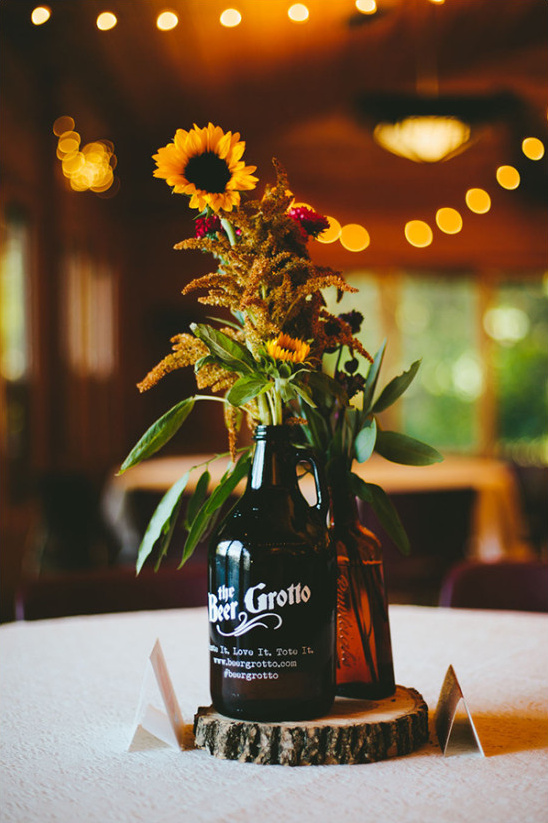 sunflower wedding centerpieces @weddingchicks