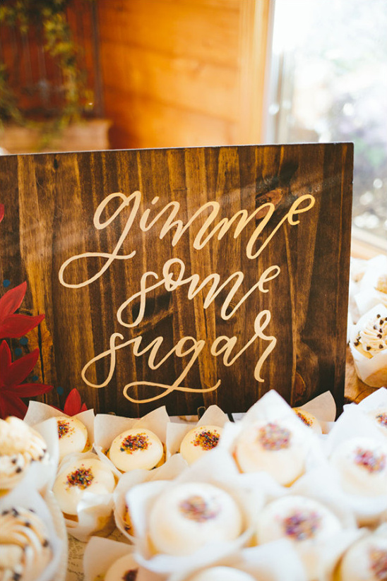 gimme some sugar wedding sign @weddingchicks