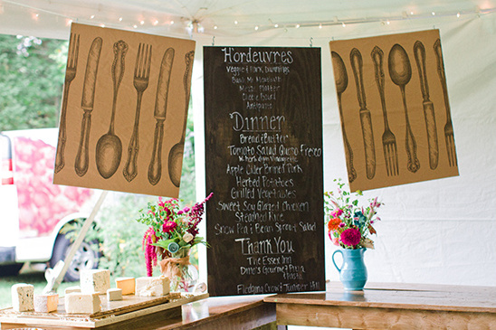 diy chalk menu @weddingchicks