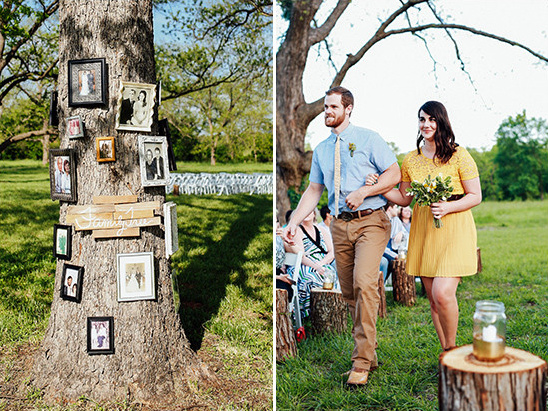 family photo display @weddingchicks