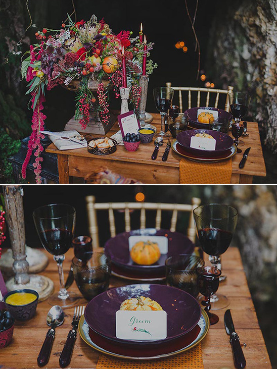 fall table setting @weddingchicks