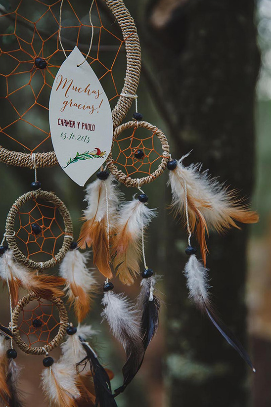 dream catcher wedding thank you @weddingchicks