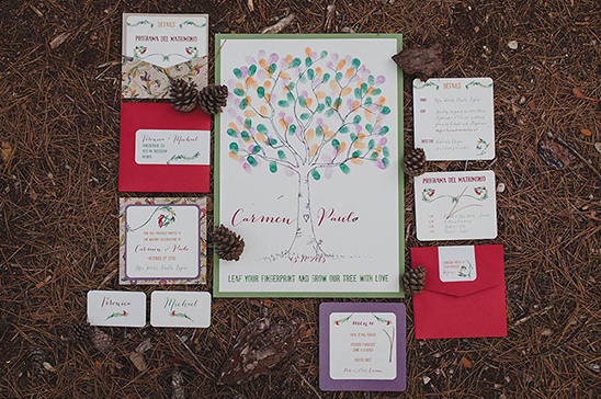 fall wedding invitation suite @weddingchicks