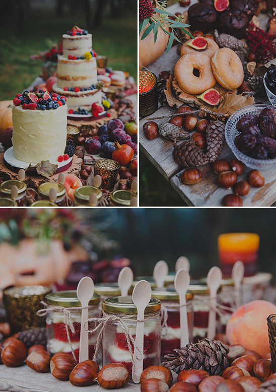 rustic dessert table details @weddingchicks
