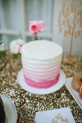 Chic Vintage Gold and Pink Wedding