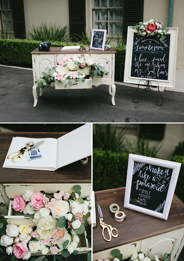 polaroid guestbook @weddingchicks