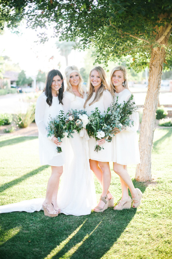 white bridesmaid dresses @weddingchicks