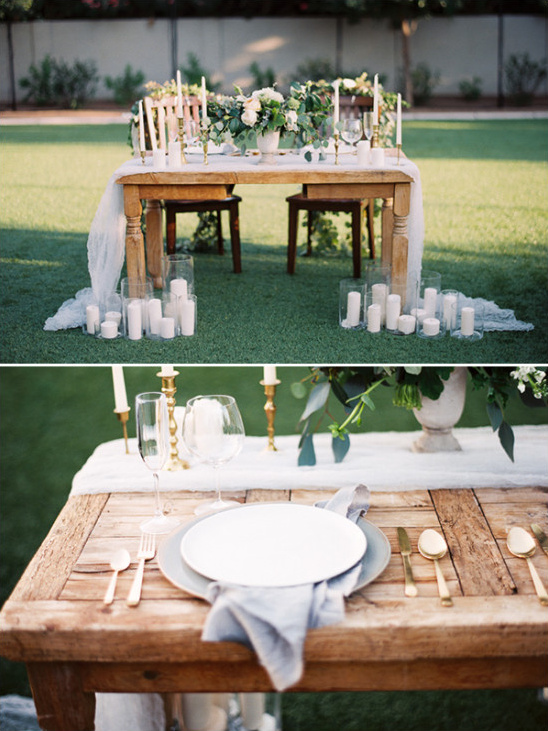 darling white sweetheart table idea @weddingchicks
