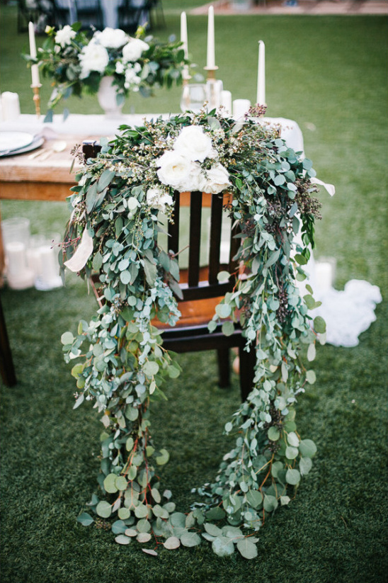 floral wedding chair decor @weddingchicks