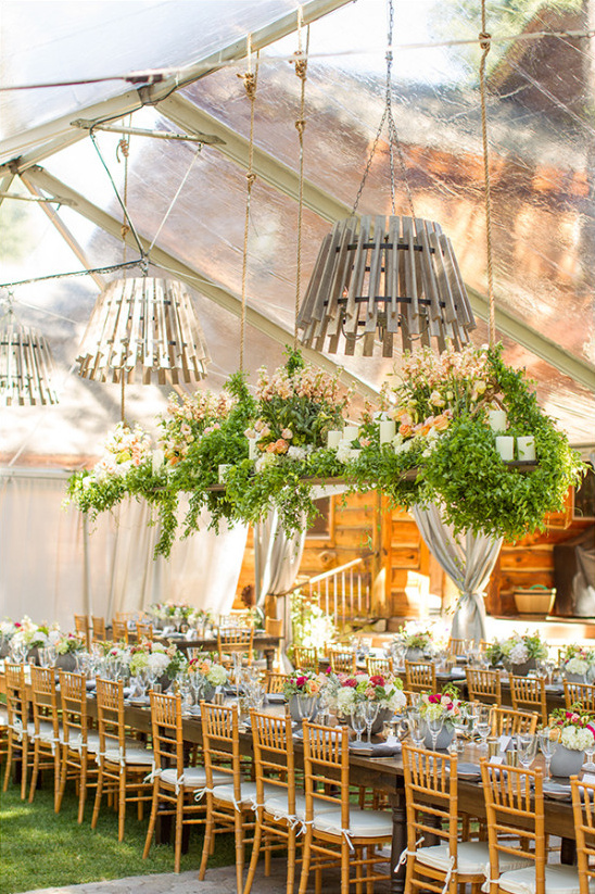 reception tent details @weddingchicks & Rustic Elegance Wedding