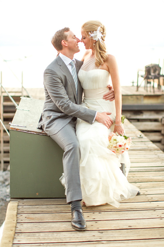 waterfront Lake Tahoe wedding @weddingchicks