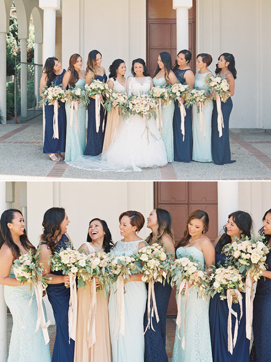 mint and navy bridesmaids @weddingchicks
