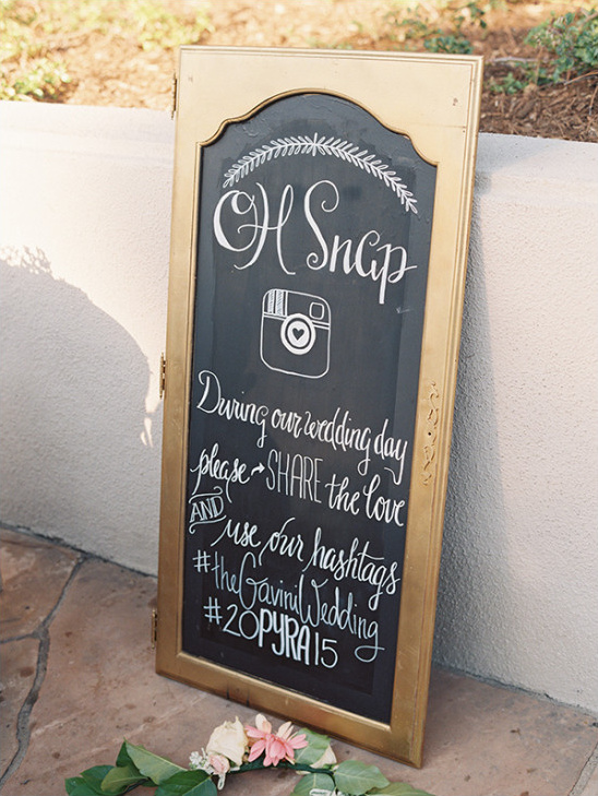instagram wedding sign @weddingchicks