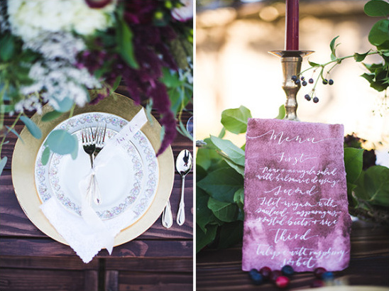 table menu ideas @weddingchicks