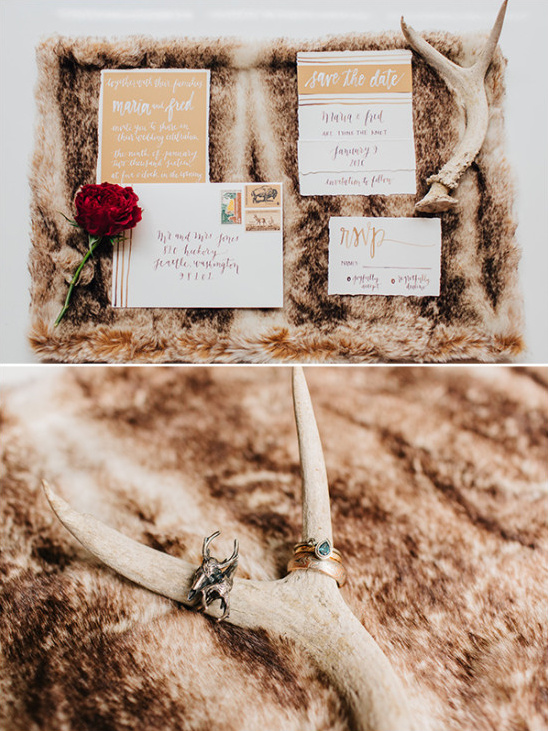 winter wedding stationery idea @weddingchicks