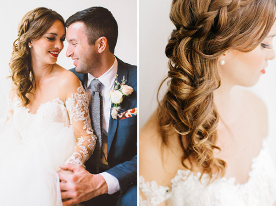 side swept wedding hair @weddingchicks