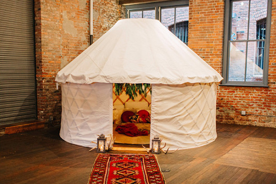 wedding yurt seating idea @weddingchicks