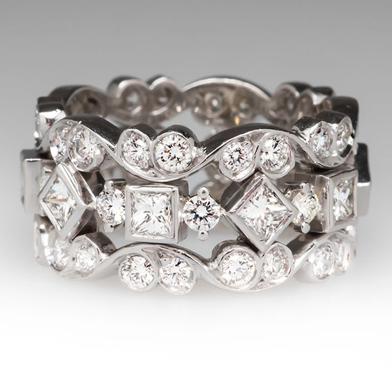 Diamond Eternity Wide Band Ring Platinum from @eragem