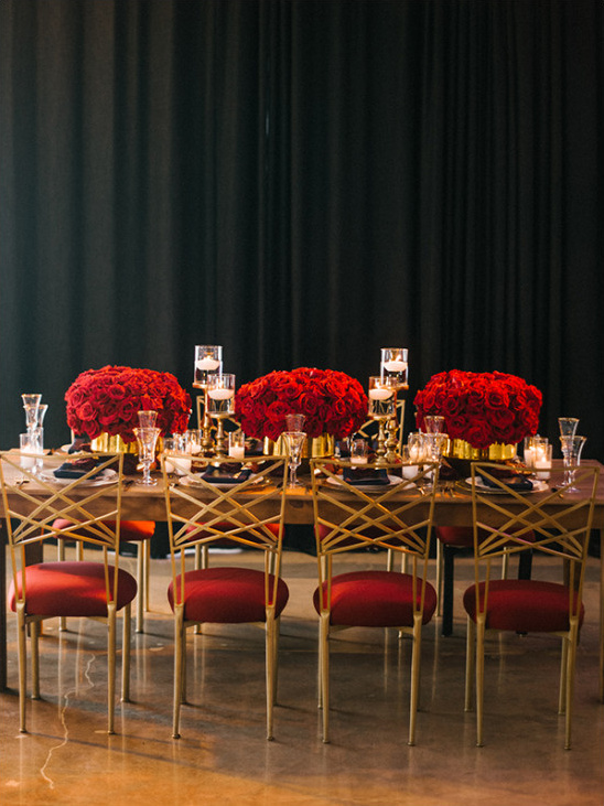 Luxurious Red And Gold Wedding