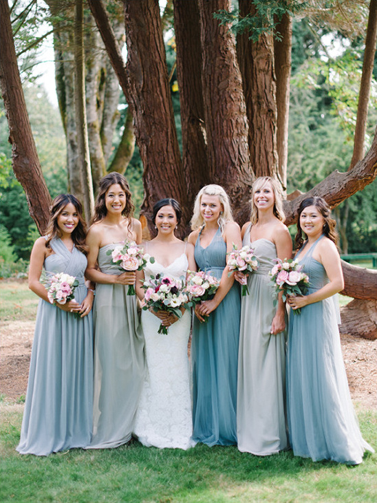 blue jenny yoo bridesmaid dresses @weddingchicks