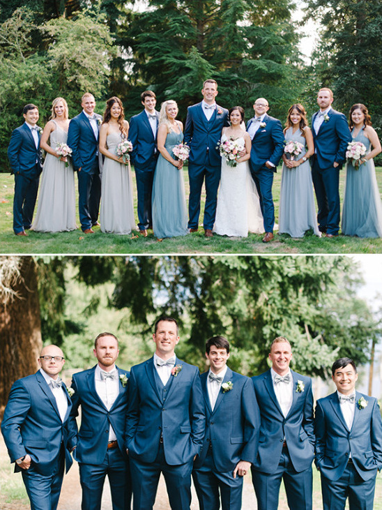 blue wedding party attire @weddingchicks