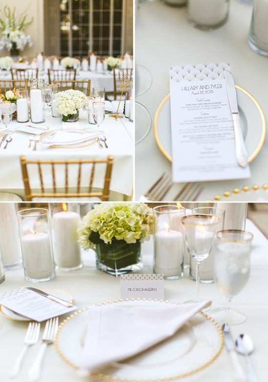 table setting details @weddingchicks