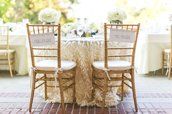 sweetheart table chairs @weddingchicks