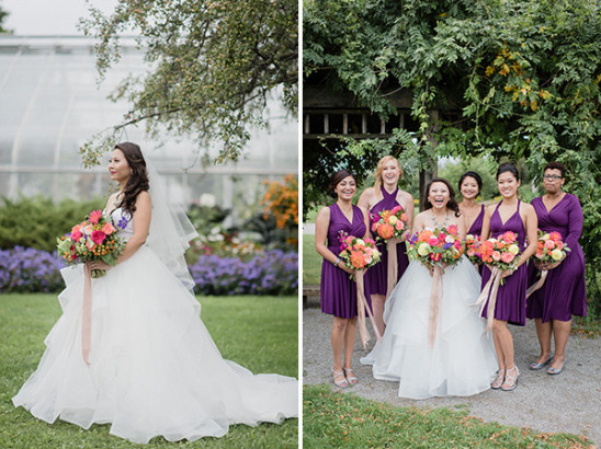 purple bridesmaids @weddingchicks