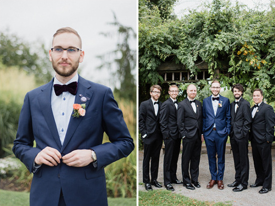 groomsmen in suits @weddingchicks