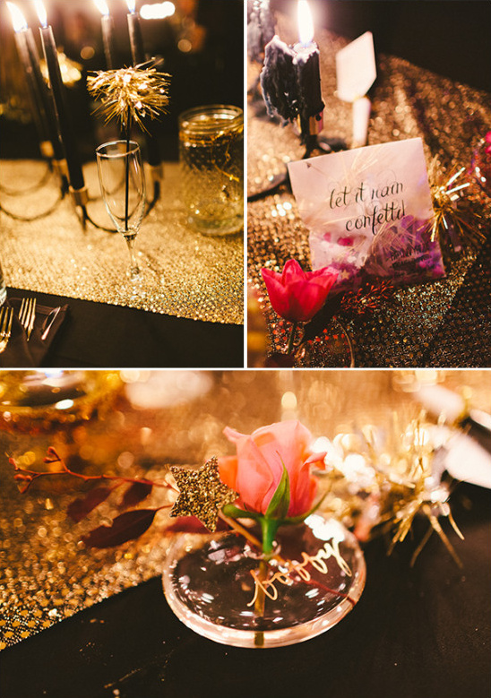 black gold and pink reception @weddingchicks