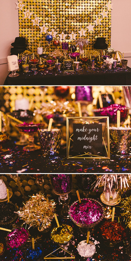 confetti bar @weddingchicks