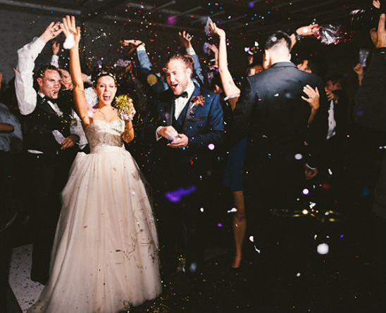 midnight confetti @weddingchicks