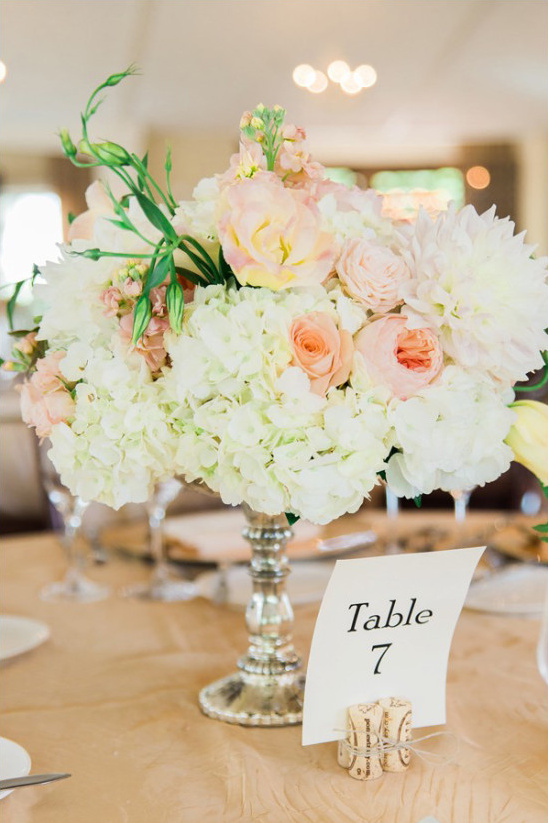 centerpeice and table number @weddingchicks