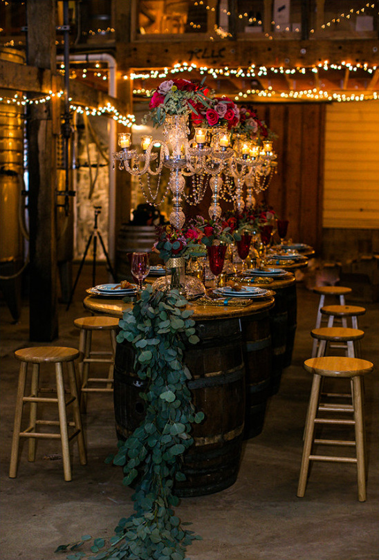 winery wedding reception @weddingchicks
