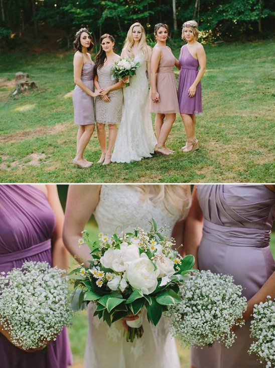 bridesmaids in purple @weddingchicks