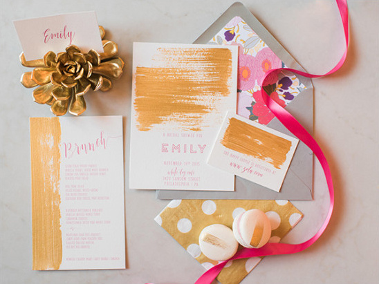 bridal shower invitation suite @weddingchicks