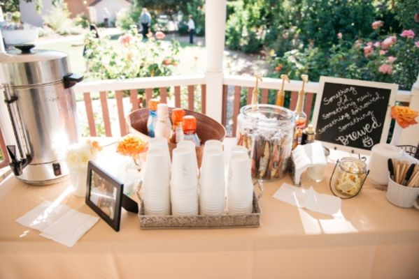 Wooden Sign Mint and Peach Wedding