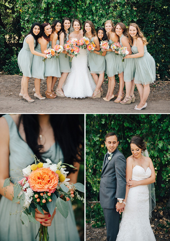 bridesmaids in green @weddingchicks