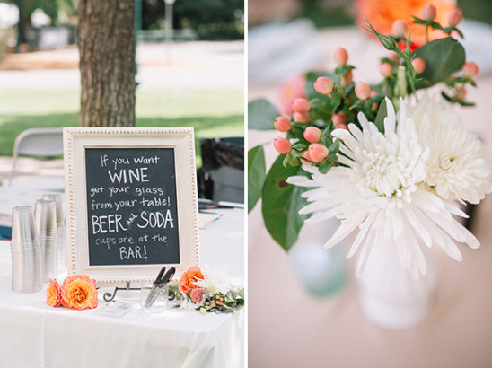 beer and wine sign @weddingchicks