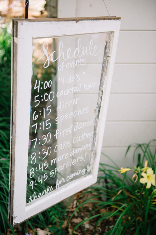 upcycled window sign @weddingchicks