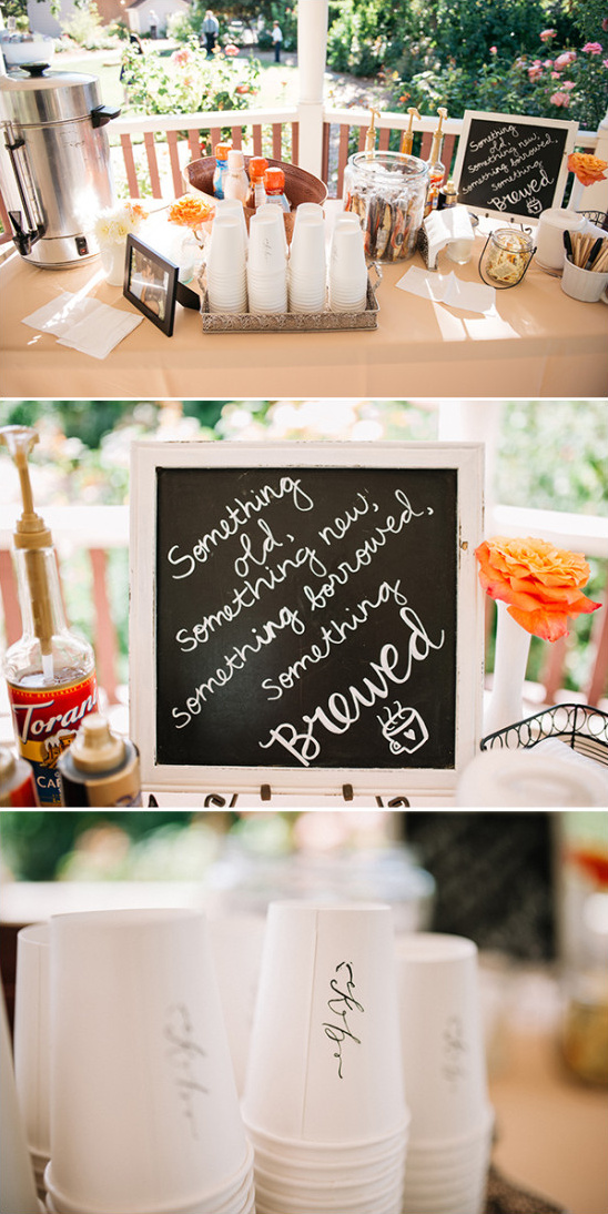 Wooden sign mint and peach wedding for Coffee bar for wedding