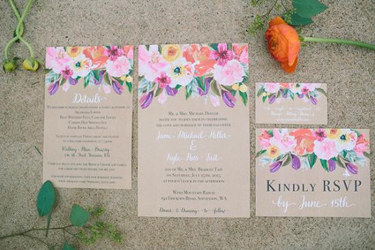 floral wedding stationery @weddingchicks