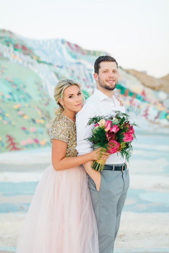 colorful desert wedding ideas @weddingchicks