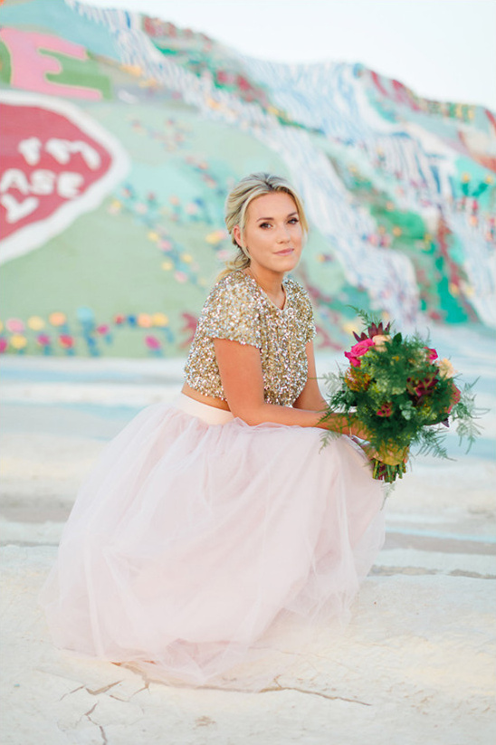 tulle skirt and glitter top @weddingchicks
